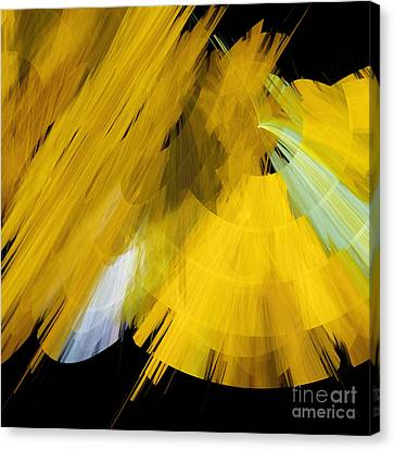 Tutu Stage Left Abstract Yellow Canvas Print by Andee Design
