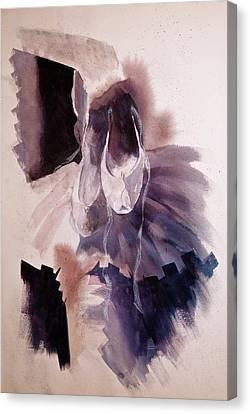 Tutu's N Ballerina Shoes Canvas Print by Irma Mason