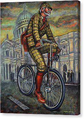 Tweed Run In Apple Green Passing St Paul's London Canvas Print by Mark Howard Jones