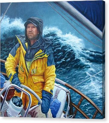 Twelve Foot Seas Canvas Print by Dan Fusco