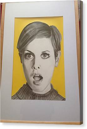 Twiggy Canvas Print by Martin Burton