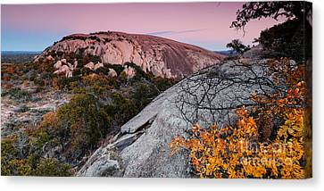 Twilight And Earth Shadow At Enchanted Rock State Natural Area - Fredericksburg Texas Hill Country Canvas Print by Silvio Ligutti