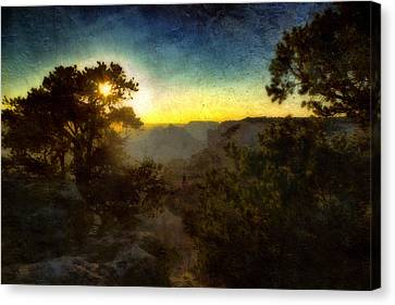 Twilight At The Canyon Canvas Print by Ellen Heaverlo
