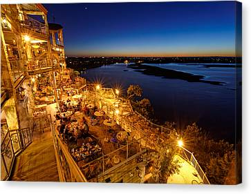 Twilight At The Oasis Austin Texas Canvas Print by Silvio Ligutti