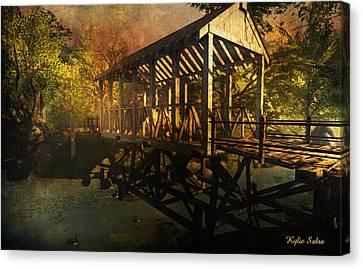 Twilight Bridge Canvas Print by Kylie Sabra