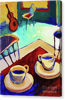 Twilight Coffee Cafe Canvas Print by Frederick  Luff