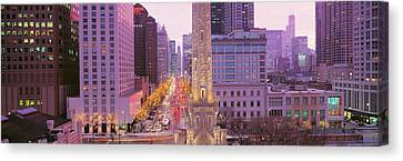Twilight, Downtown, City Scene, Loop Canvas Print by Panoramic Images