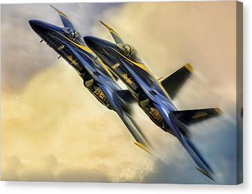 Twin Angels Canvas Print by Peter Chilelli
