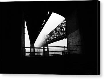 Twin Bridges Canvas Print by Leon Hollins III
