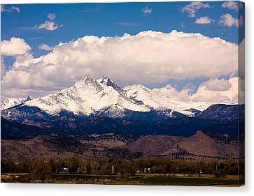 Twin Peaks Snow Covered Canvas Print by James BO  Insogna