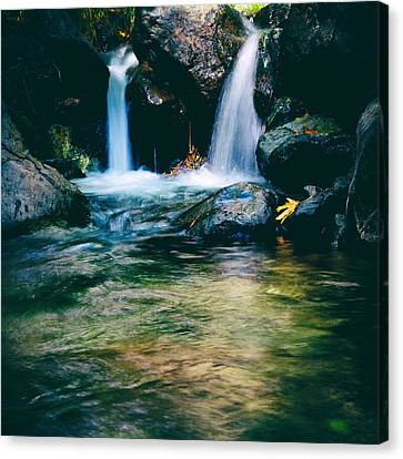 Twin Waterfall Canvas Print by Stelios Kleanthous