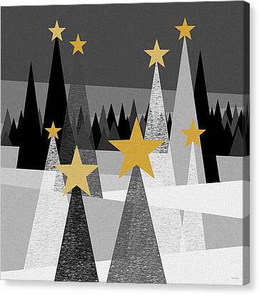 Twinkle Lights Canvas Print by Val Arie