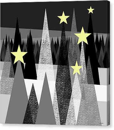 Twinkle Night Canvas Print by Val Arie