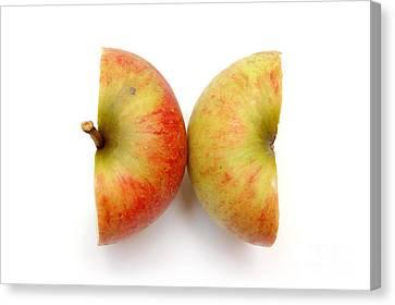 Two Apple Halves Canvas Print by Michal Bednarek