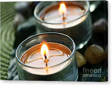 Two Candles Canvas Print by Elena Elisseeva