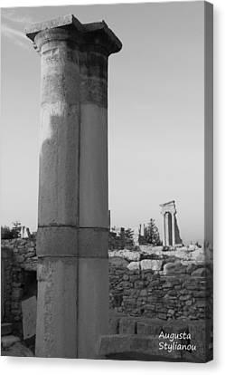 Two Columns At Apollo Sanctuary Canvas Print by Augusta Stylianou