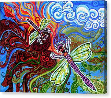 Two Dragonflies Canvas Print by Genevieve Esson
