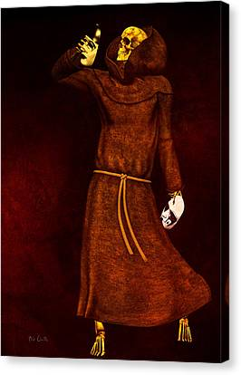 Two Faces Of Death Canvas Print by Bob Orsillo