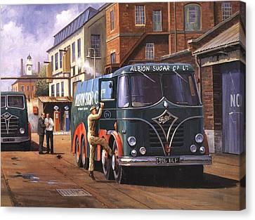 Two Fodens Canvas Print by Mike  Jeffries