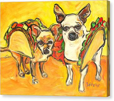 Two Good Tacos Canvas Print by Jodie  Scheller