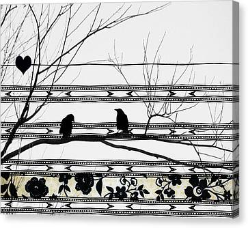 Two Is Better Canvas Print by Gothicolors Donna Snyder