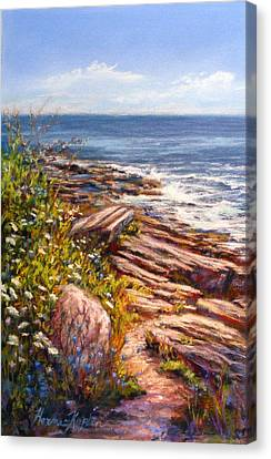 Two Lights State Park Canvas Print by Denise Horne-Kaplan