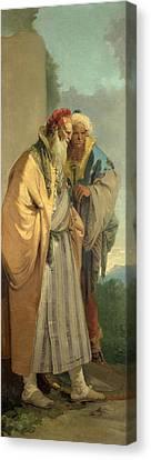 Two Men In Oriental Costume Canvas Print by Giovanni Battista Tiepolo