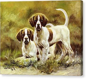 Two Of A Kind Canvas Print by Bob Hallmark