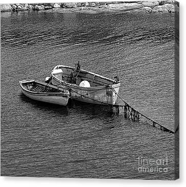 Two Old Rowboats Canvas Print by Kathleen Struckle