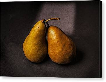 Two Pear Canvas Print by Peter Tellone