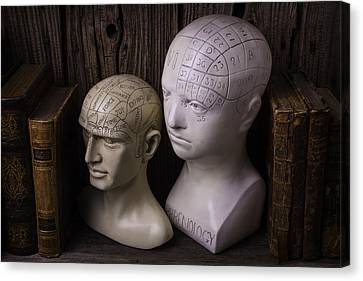 Two Phrenology Heads Canvas Print by Garry Gay
