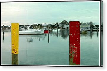 Two Poles Canvas Print by Kathy Barney