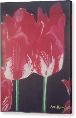 Two Red Tulips Canvas Print by Robert Bray