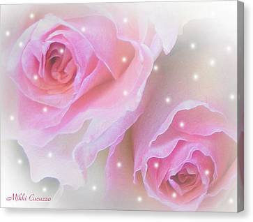 Two Roses Canvas Print by Mikki Cucuzzo