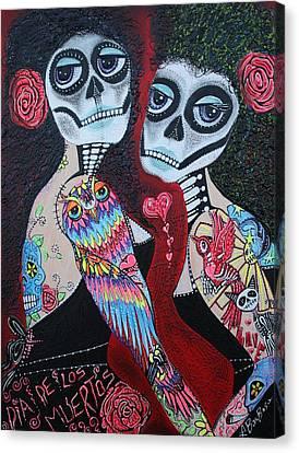 Two Senoritas Canvas Print by Laura Barbosa
