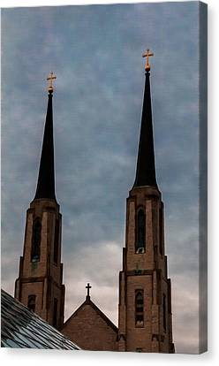 Two Steeples Three Crosses Canvas Print by Gene Sherrill