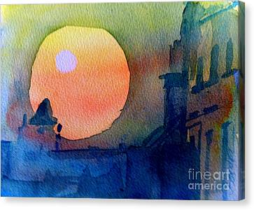 Two Suns Canvas Print by Sandra Stone