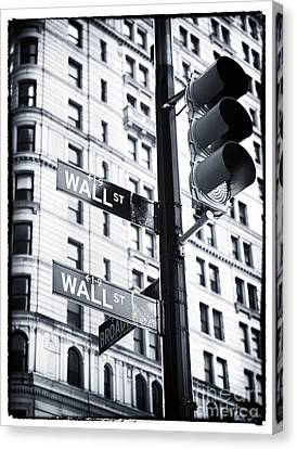 Two Times Wall St. Canvas Print by John Rizzuto