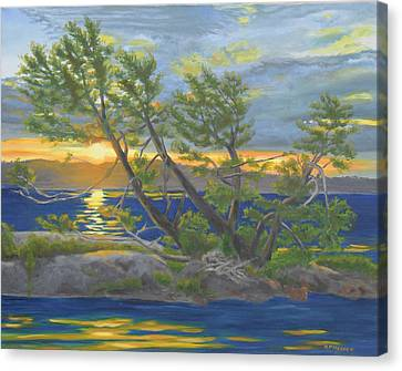 Two Tree Island-thousand Islands Canvas Print by Robert P Hedden