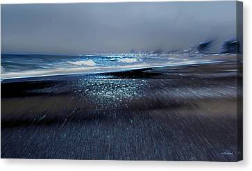 Two Waves Canvas Print by Kathy Bassett