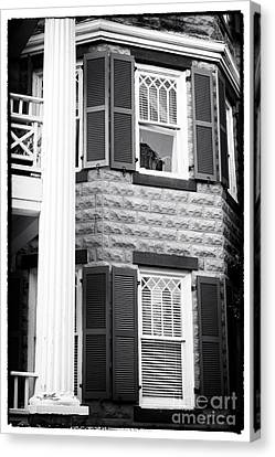 Two Windows In Savannah Canvas Print by John Rizzuto