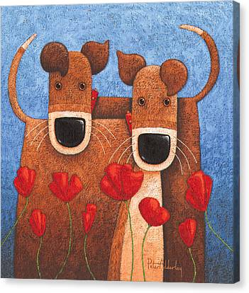 Twos Company Canvas Print by Peter Adderley