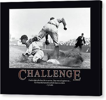 Ty Cobb Challenge  Canvas Print by Retro Images Archive