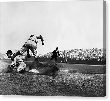 Ty Cobb Famous Slide Canvas Print by Retro Images Archive