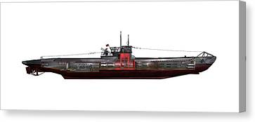 Type Viic42 U-boat, Artwork Canvas Print by Science Photo Library