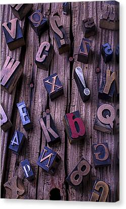 Typesetting Blocks Canvas Print by Garry Gay