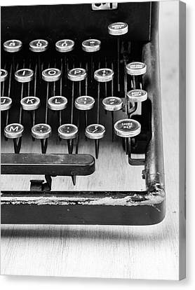 Typewriter Triptych Part 3 Canvas Print by Edward Fielding