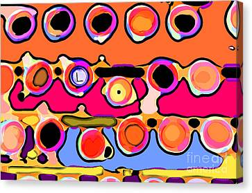 Typing Canvas Print by Gwyn Newcombe