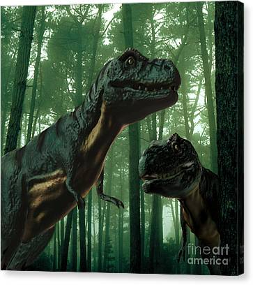 Tyrannosaurus Rex Canvas Print by Spencer Sutton