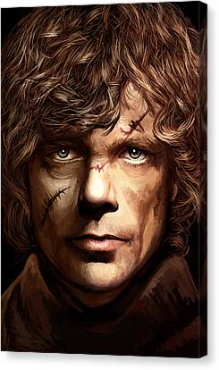 Tyrion Lannister - Peter Dinklage Game Of Thrones Artwork 2 Canvas Print by Sheraz A